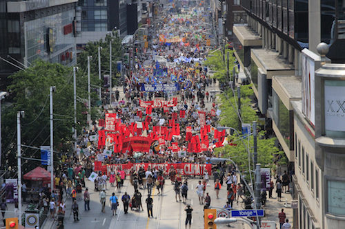 Jobs, Justice, and Climate March in Toronto