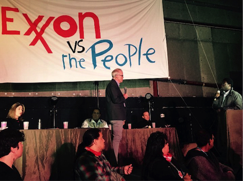 Mock trial in Paris trying Exxon for crimes against humanity
